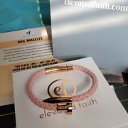 Elevated Faith Pink Leather Nail Bracelet Review
