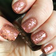 Maniology Sweater Weather Collection: Satin Blush (B259) - Metallic Rose Stamping Polish Review