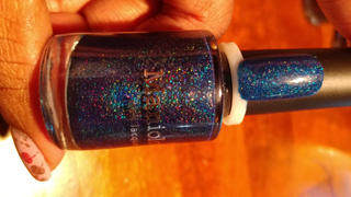 Maniology Moods: Sassy (P103) - Navy Blue Holographic Shimmer Nail Polish Review