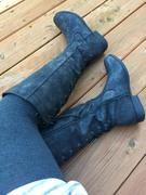 shophearts Laced Up Weathered Riding Boots in Black Review