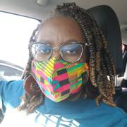D'IYANU Dabo African Print 2 Layer Reusable Face Mask (Raspberry Yellow Kente) Review