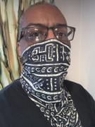 D'IYANU Isabis African Print Bandana Face Mask (Black White Tribal) Review