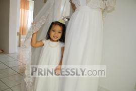 Misdress Lace Cap Sleeves Boho Beach Ivory Chiffon Flower Girl Dress Review