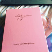 [The Key Planner] Undated Weekly Planner Vegan Leather Pink Review