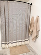 Olive and Linen Pixel Shower Curtain Review