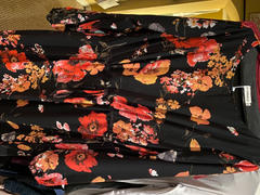 UrbanModesty.com Black Floral Drawstring Maxi Dress Review