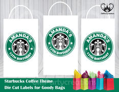 cmpartycreations Starbucks Die Cut Goody Bag Labels Review