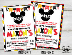 cmpartycreations Mickey Mouse Invitation First Birthday Party Review