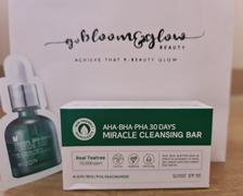 Go Bloom & Glow AHA BHA PHA 30 Days Miracle Cleansing Bar Review