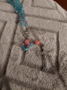 Christian Catholic Shop Turquoise Pink Rose Rosary Review