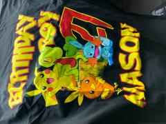 cuztomthreadz Personalize Pokemon Birthday Shirt Review