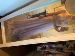 Oh Hello Clothing Isabella Pleated Embellished Gown Review