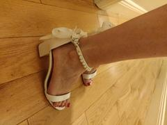 Oh Hello Clothing Zara Embellished Ankle Sandals White Review
