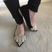 Oh Hello Clothing Bethany Pearl Embellished Flats Black Review