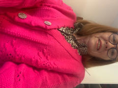 Oh Hello Clothing Lucey Perforated Cardigan | Fuchsia Review