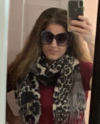 Closet Candy Boutique Rise Up Color Block Leopard Scarf - Grey Review