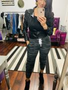 Closet Candy Boutique Give It A Rest Camo Joggers - Charcoal Review