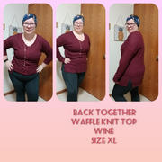 Closet Candy Boutique Back Together Waffle Knit Top - Wine Review
