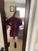 Closet Candy Boutique Set Your Sights Turtleneck Sweater Dress - Wine Review