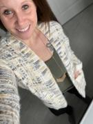Closet Candy Boutique MYSTREE Won't Forget You Tweed Cardigan - Cream Review