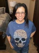 Closet Candy Boutique Skull Distressed Leopard Graphic Tee - Indigo Review