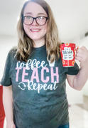 Closet Candy Boutique Coffee, Teach, Repeat Graphic Tee - Charcoal Review