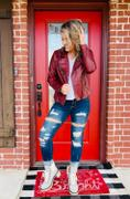 Closet Candy Boutique CBRAND Limitless Vegan Leather Jacket - Wine Review