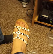 Closet Candy Boutique Madison Studded Sandal - White Review