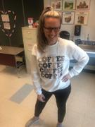 Closet Candy Boutique You Had Me At Coffee Graphic Sweatshirt - White Review