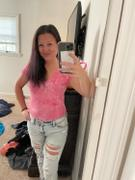Closet Candy Boutique CBRAND Got it Handled Ribbed Tie Dye Bodysuit - Fuchsia Review