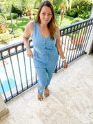 Closet Candy Boutique Runaway Together Jumpsuit - Blue Review