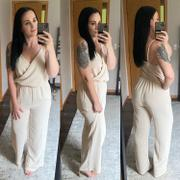 Closet Candy Boutique CBRAND Margaritas at Sunset Jumpsuit - Oatmeal Review