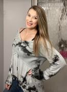 Closet Candy Boutique Pastel Sky Tie Dye Top - Grey Review
