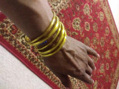 Myrah Penaloza Lucky Bangles (100% Gold Filled Recycled Plastic) Review