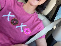 Faith Hope Love Boutique XOXO Donuts Heather Raspberry T-Shirt (QuickShip) Review
