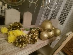 tableclothsfactory.com 6 Pack 10 Gold Paper Tissue Fluffy Pom Pom Flower Balls Review