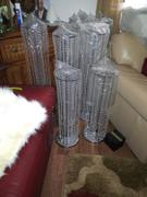 tableclothsfactory.com 4 Pcs Silver Chandelier Lamp Poles Review