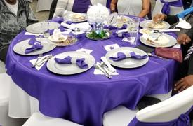 tableclothsfactory.com 5 Pack 17x17 Purple Polyester Linen Napkins Review