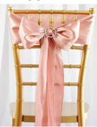 tableclothsfactory.com 5 pack | 6x106 Dusty Rose Satin Chair Sash Review