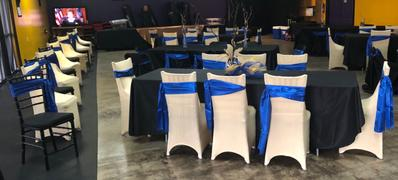 tableclothsfactory.com 5 pack | 6x106 Royal Blue Satin Chair Sash Review