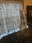 tableclothsfactory.com 18FT x 9FT | 600 Sequential Cool White LED Lights With White Organza BIG Photography Curtain Backdrop Review