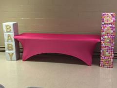 tableclothsfactory.com 6FT Fushia Rectangular Stretch Spandex Tablecloth Review