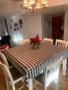 tableclothsfactory.com Buffalo Plaid Tablecloth | 70x70 Square | White/Black | Checkered Gingham Polyester Tablecloth Review