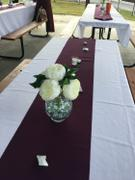 tableclothsfactory.com 12x108 Eggplant Polyester Table Runner Review