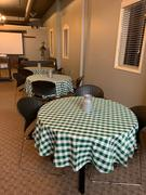 tableclothsfactory.com Buffalo Plaid Tablecloth | 70 Round | White/Green | Checkered Gingham Polyester Tablecloth Review