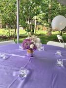 tableclothsfactory.com 90 | Lavender Satin Overlay | Seamless Square Table Overlays Review