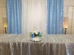 tableclothsfactory.com 90x156 Silver Premium Sequin Rectangle Tablecloth Review