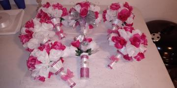 tableclothsfactory.com 12 Bush White 84 Rose Buds Real Touch Artificial Silk Flowers Review