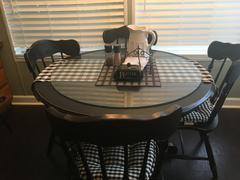 tableclothsfactory.com Buffalo Plaid Table Runner | Black / White | Gingham Polyester Checkered Table Runner Review