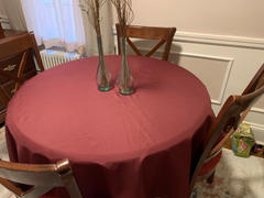 tableclothsfactory.com 70 Burgundy Polyester Round Tablecloth Review